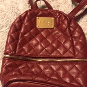 Bebe leather backpack purse